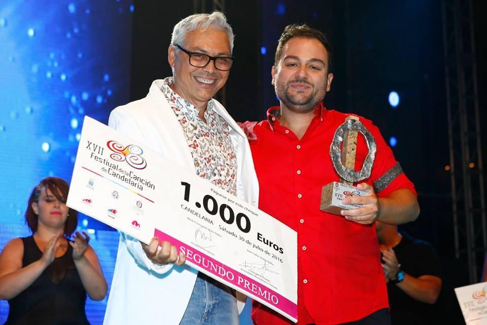 """Segundo Premio canción """"Dile"""" de Cristo Garcia Serrano y del autor Lunar Gonzalez Benitez"""