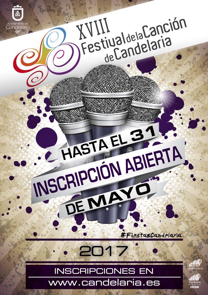 Cartel Festival de la Canción de Candelaria